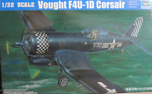 WWII US NAVY F-4U1D CORSAIR TRUMPETER 1:32 SCALE PLASTIC MODEL AIRPLANE KIT