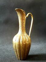 Vintage Antique Hand Etched Decorative Floral Indian Burmese Ornate Ewer Jug