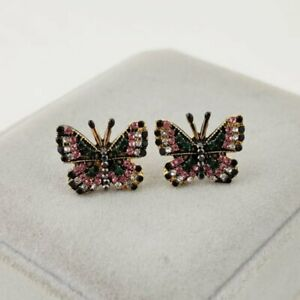 Colorful Crystal Butterfly Fashion Ear Stud Bow Knot Women Earrings Jewelry Hot