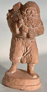 Vintage 1989 Santa Claus Christmas Ceramic Ornamental Figure Statue Rowlett TX