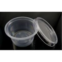 50 x  CLEAR Plastic Containers 4oz with Lids Storage Pots,Sauce Cups Baby Food