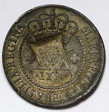 1790 Brazil 20 Réis Coin Maria I  Counterstamped RARE KM# 216.2  High Crown