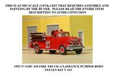 NEW RELEASE! HO SCALE: 1955-57 GMC 630 w/LaFRANCE PUMPER BODY - SYLVAN KIT V-323