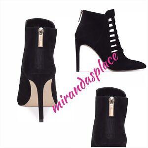 NIB BCBGeneration Coy Black Suede Women's Ankle Boots Size 10M