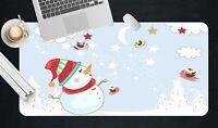 3D Wolkenmond H53 Christmas Rutschfest Schreibtisch Matte Tastatur Pad Amy