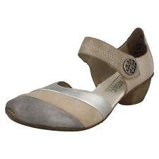 Ladies Rieker Heeled Casual Shoes 43790 UK 5 Beige Standard