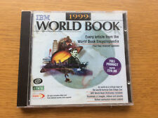 IBM 1999 World Book Encyclopedia CD ROM Software + San Diego Zoo Virtual Tour