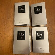 Lot Of 4 Dior Homme Eau de Toilette EDT for Men .03 oz 1ml Spray Sample Vial New