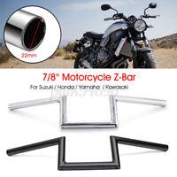 "7/8"" 22mm Motorcycle Drag Handlebar Z Bar For Honda For Suzuki For Yamaha"