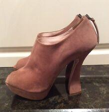 "Miu Miu Brown Suede Platform Peep Toe 5"" Heels, Size 41, US Size 10. Nice!"