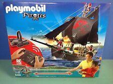 (N5238.1) Playmobil grand bateau pirates + télécommande RC ref 5238 boite neuve