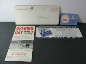 Vintage 1966 Cleveland Indians Baseball Schedule + Mail & Ticket Order