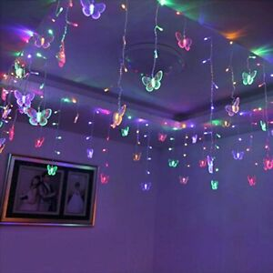 LED Lights for Room Bedroom Decor Butterfly String Curtain hanging fairy Lights