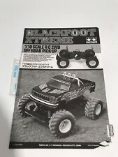 TAMIYA 58312 BLACKFOOT EXTREME Radio Contrôle Manuel d'instruction