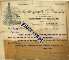 1908 LETTERHEAD Charleston South Carolina HUGHES SPECIALTY OIL WELL DRILLING