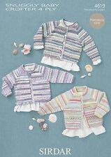 Sirdar Snuggly Baby Crofter 4ply Pattern 4619