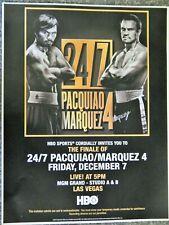 BOXING MANNY PACQUIAO VS MARQUEZ 4  BOUT DEC 7 2012  PROMO FLYER RARE