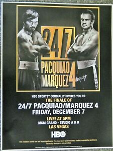 BOXING MANNY PACQUIAO VS MARQUEZ 4  BOUT DEC 7 2012  PROMO FLYER RARE