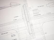 Plan de viejo tiempo o Diesel Línea de Control de combate Dominator, para vuelo circular