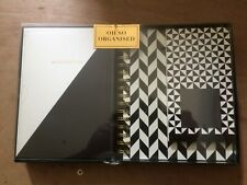 A5 notebook, A5 organiser, reminder pad monochrome stationery gift set -New-