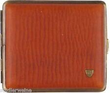 Vom Hofe Cigarette Case Soft Leather Braun Antique/Elastic/2seitig/18 King
