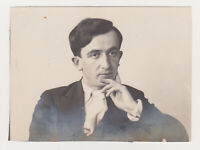 Affectionate Handsome Man Cute Face Attractive Guy Gay Int Old Photo 1930s