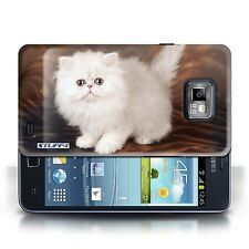STUFF4 Case/Cover for Samsung Galaxy S2/SII/Cute Kittens/White & Fluffy