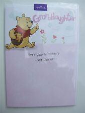 Disney Pooh bear & Honey birthday card for a GRANDDAUGHTER by Hallmark– 11225002