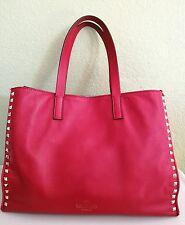 Valentino Rockstud Red Tote Bag