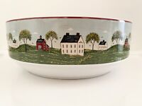 "Sakura - Brandon House Warren Kimble 1998 Country Life 9"" Serving Vegetable Bowl"