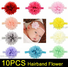 10PCS Baby Girls Flower Hairband Soft Elastic Headband Hair Accessories Band
