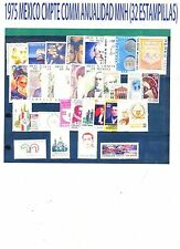 COMPLETE 1975 MEXICO Collection Commemorative Year MNH (32 Stamps)