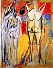Willem de Kooning Limited Edition TWO STANDING WOMEN 1949 Giclee Print 17x23