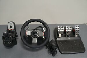 LOGITECH G27 RACING STEERING WHEEL PEDALS SHIFTER TESTED WORKING PLAYSTATION PC