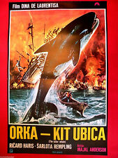 Orca Killer Whale1977 Richard Harris Charlotte Rampling Unique Exyu Movie Poster