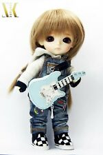 SK Couture BLUE GUITAR HAND BAG for BLYTHE, LATI YELLOW, PULLIP,   Mint, New