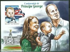 GUINEA BISSAU 2014 FIRST BIRTHDAY OF PRINCE GEORGE W/KATE & WILLIAM S/S IMPERF