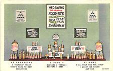 Wegner's Rock & Rye Syrup Ice Cream Fountain Linen Postcard