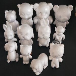 White Polystyrene Styrofoam Foam Bear Modelling For DIY Valentine's Day Decor