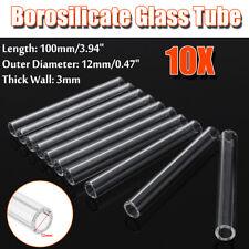 10Pcs 100mm OD 12mm 3mm Thick Wall Borosilicate Glass Tube Pyrex Blowing Tubing