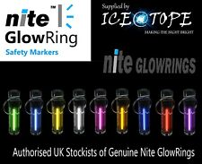 GENUINE NITE GLOWRING Glow In The Dark ISOTOPE KEYRING ICEATOPE camping tent zip