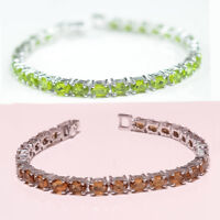 925 Sterling Silver Color Change Diaspore Gemstone Fine Jewelry Bracelet Wedding