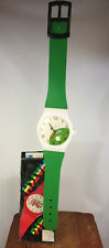 Vintage 70s 80s Wall Clock Wrist Watch Surf Skate Grunge Decor Memphis Design
