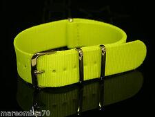 Cinturino NATO Tinta Unita Giallo Fluo RV172
