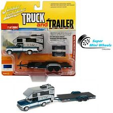 Johnny Lighting Truck and Trailer 1993 Ford F-150 With Camper and Trailer