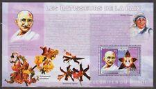 CONGO GANDHI TERESA FLOWERS STAMP MINIATURE SHEET MNH VERY RARE INDIA THEME