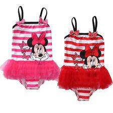 Baby Kids Girl Minnie Swimsuit Bikini Swimming Costume Swimwear Bathing Suit