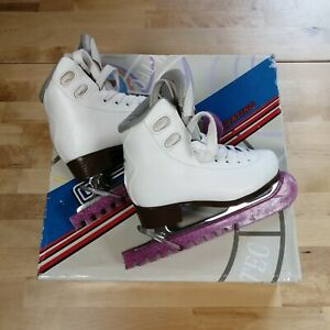 Graf Bolero Kids Ice Skates White Pink Size 29 (UK 11 JNR) Childrens Boxed VGC