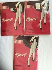 New Vintage Opal Sanssouci Seamed Cuban Heels Nylon Stockings Size 10 1/2 Xl