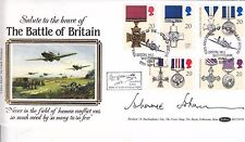 JOHNNIE JOHNSON HAND SIGNED GALLANTRY OFFICIAL FIRST DAY COVER